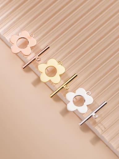 925 Sterling Silver Minimalist  Hollow flower word OT buckle Pendant
