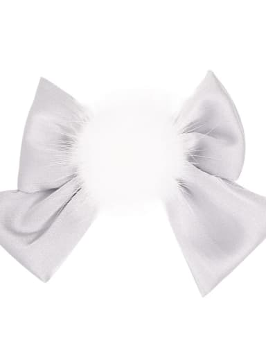 5  grey Alloy Fabric Cute Bowknot  Multi Color Hair Barrette