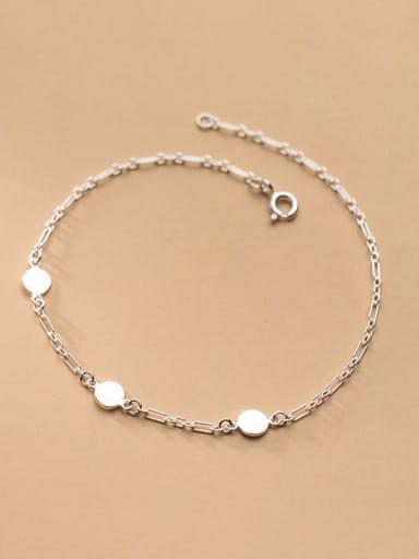 925 Sterling Silver Round Minimalist Adjustable Bracelet