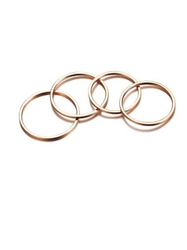 Stainless steel Round Minimalist Band Ring