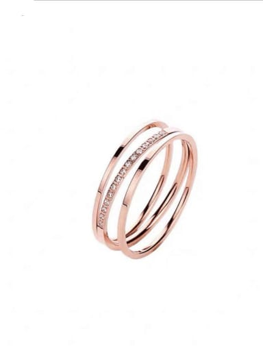 Titanium Steel Geometric Minimalist Stackable Ring
