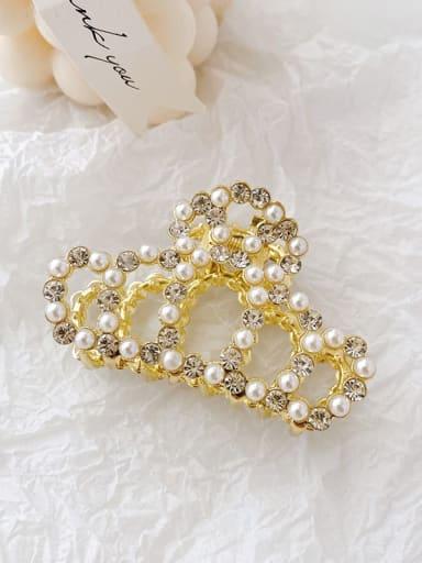 Crown 7cm Alloy Imitation Pearl Minimalist Geometric  Jaw Hair Claw