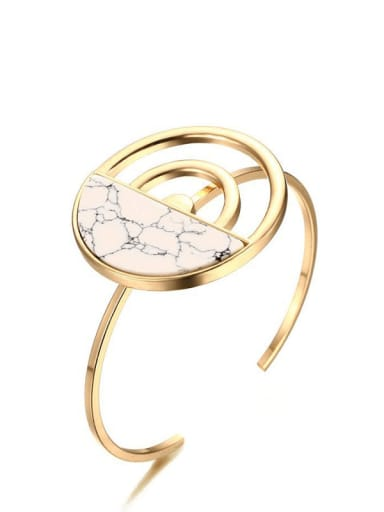 Stainless steel Acrylic Geometric Vintage Wire  Bracelet
