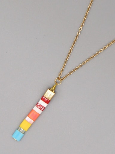 TL N200017B Stainless steel Miyukitila Geometric Bohemia Pure handmade Necklace