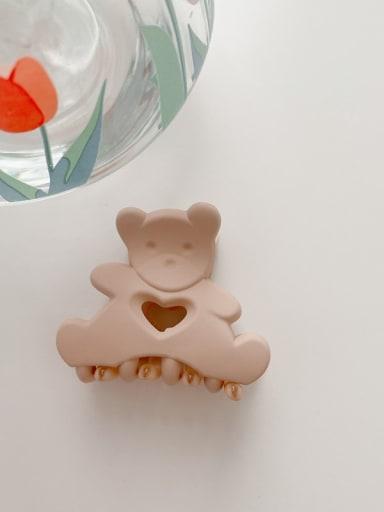 Frosted Korean powder 4.5cm Alloy Resin Cute Little bear  Jaw Hair Claw