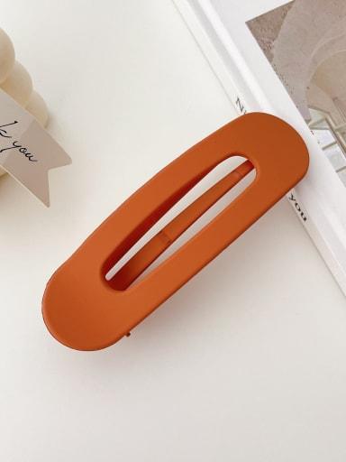 Earth orange 11cm Alloy Resin Trend Geometric  Hair Barrette