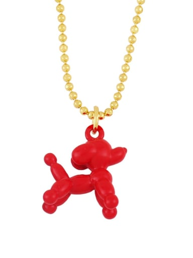 red Brasel  Cute Cartoon Dog Pendat Necklaces