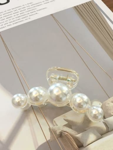 20 out of five Alloy  Cellulose Acetate MinimalistImitation Pearl Jaw Hair Claw