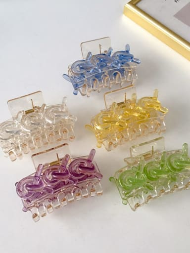 Acrylic Minimalist Geometric Alloy Jaw Hair Claw