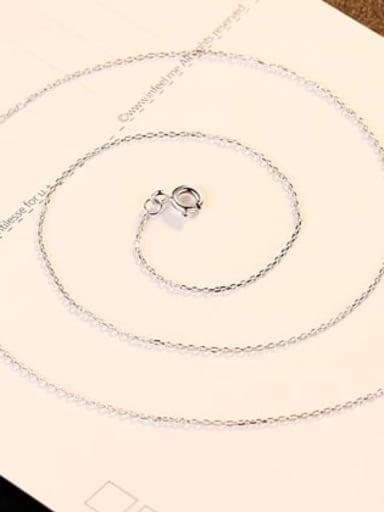 Platinum 40+ 5cm 925 Sterling Silver Minimalist Cable Chain