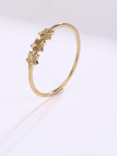 Titanium Steel Flower Minimalist Band Ring