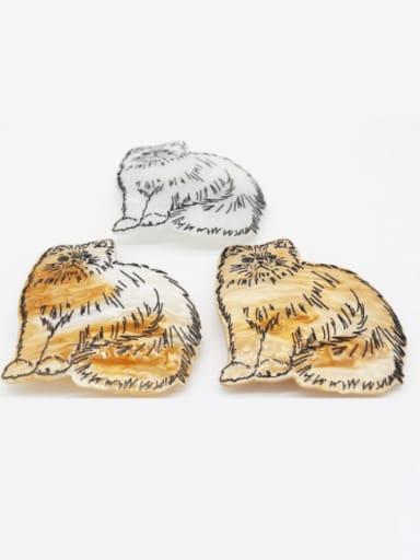Cellulose Acetate Cute Tiger Zinc Alloy Spring  Hair Barrette