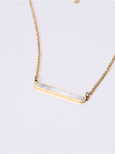 Stainless steel Shell Geometric Minimalist Necklace