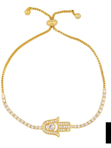 brc30 B Alloy Cubic Zirconia Cross Vintage Link Bracelet