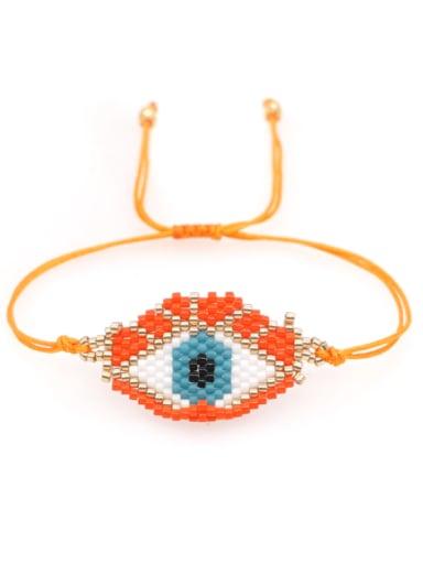 MI B210089B Multi Color MiyukiDB Evil Eye Bohemia Handmade Weave Bracelet