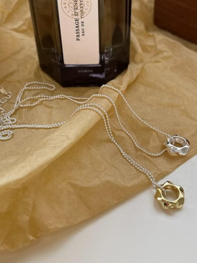925 Sterling Silver Geometric Vintage Necklace
