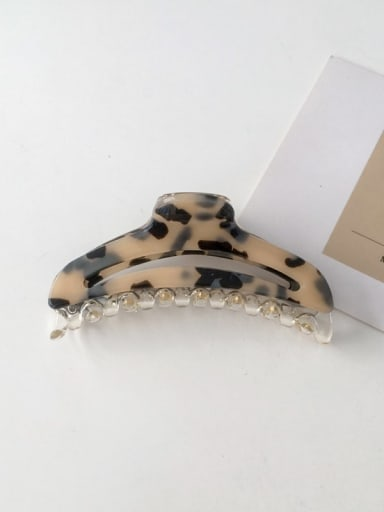 Hawksbill 9.2cm Alloy Cellulose Acetate Minimalist Geometric Jaw Hair Claw