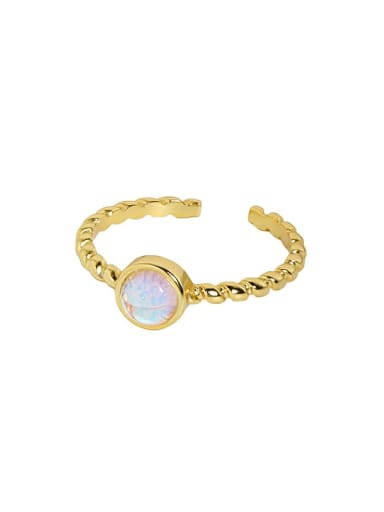 18K gold [No. 15 adjustable] 925 Sterling Silver Cubic Zirconia Round Minimalist Band Ring