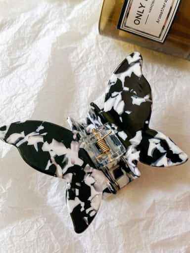 Cow pattern 8cm Alloy  Cellulose Acetate Minimalist Butterfly Jaw Hair Claw
