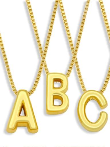 Brass Smooth Minimalist Letter Pendant