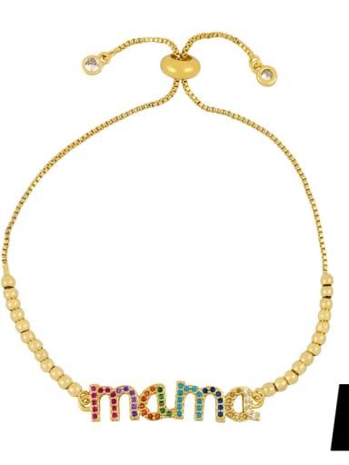 Alloy Cubic Zirconia Letter Minimalist Bracelet