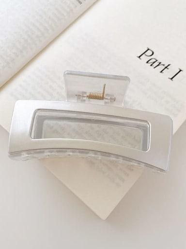 Transparent silver 8.5cm Alloy Resin Minimalist Geometric  Jaw Hair Claw