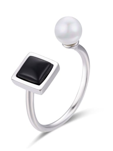 925 Sterling Silver Carnelian Geometric Bohemia Band Ring