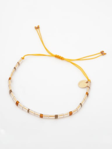 TL B190250A Stainless steel TILA Bead Multi Color Geometric Bohemia Handmade Weave Bracelet