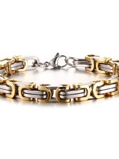 A gold bracelet Titanium Steel Irregular Vintage Necklace