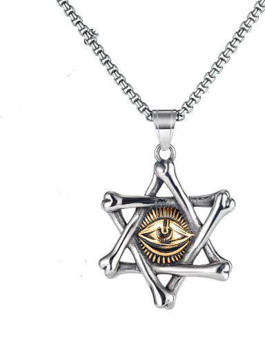 Titanium Steel Evil Eye Hip Hop Necklace