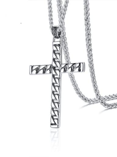 Stainless steel Cross Minimalist Regligious Necklace