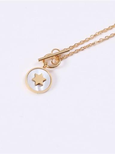 Titanium Steel Shell Round Minimalist Necklace
