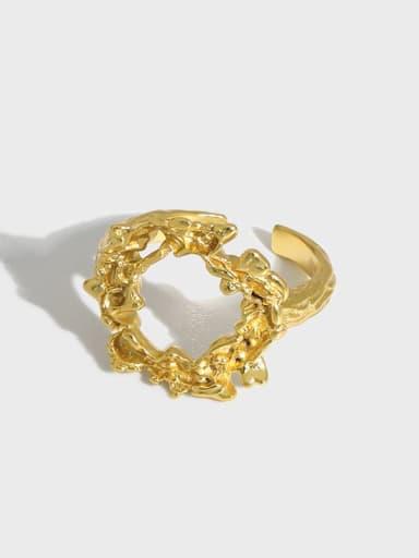 925 Sterling Silver Hollow Irregular Vintage Band Ring
