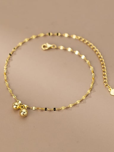 925 Sterling Silver Bell Minimalist  Anklet