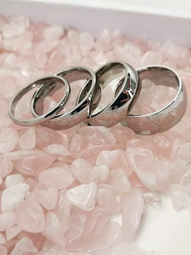 Stainless steel Smooth Round Minimalist Band Ring