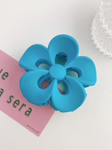 Peacock blue 8cm Alloy Resin Trend Flower  Jaw Hair Claw