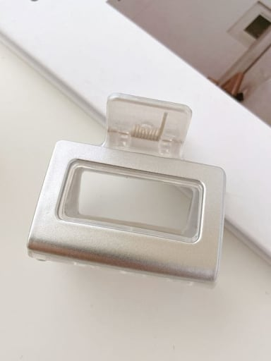 Transparent white 5cm Alloy Resin Minimalist Geometric Multi Color Jaw Hair Claw