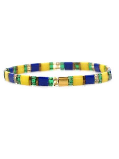 TL B190262F Stainless steel TILA Bead Multi Color Geometric Bohemia Handmade Weave Bracelet