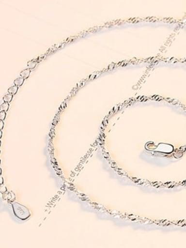 Crude platinum 925 Sterling Silver Minimalist Singapore Chain