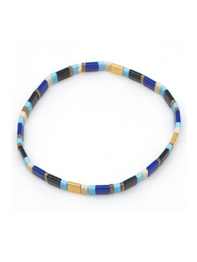 TL B190262D Stainless steel TILA Bead Multi Color Geometric Bohemia Handmade Weave Bracelet