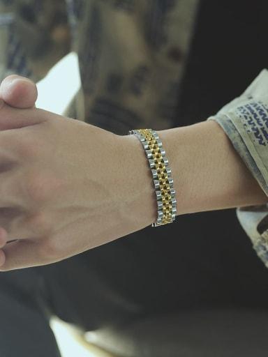 Titanium Steel Geometric Vintage Woven Bracelet