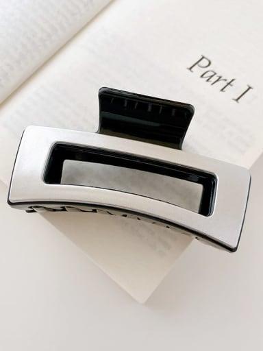 Black silver 8.5cm Alloy Resin Minimalist Geometric  Jaw Hair Claw