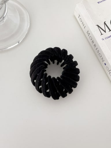 Black 4.5cm Trend Geometric Resin Hair Rope