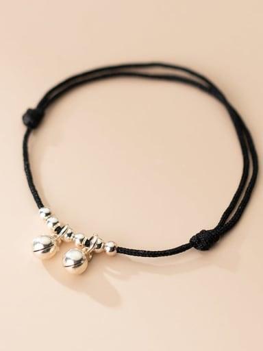 925 Sterling Silver Bell Minimalist Adjustable Bracelet
