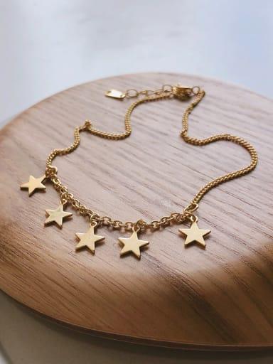 925 Sterling Silver Minimalist   Star Anklet