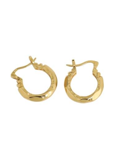 925 Sterling Silver Hollow Geometric Vintage Huggie Earring