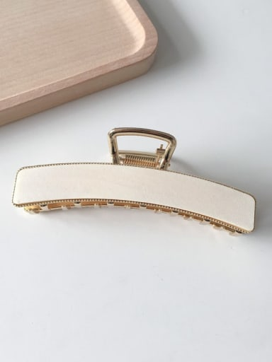 White wood 10.3cm Cellulose Acetate Vintage Geometric Alloy Jaw Hair Claw