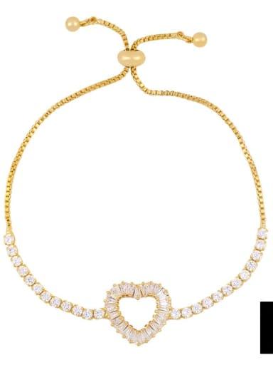 brc30 D Alloy Cubic Zirconia Cross Vintage Link Bracelet