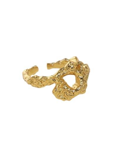 18K gold [12 Adjustable] 925 Sterling Silver Geometric Vintage Band Ring