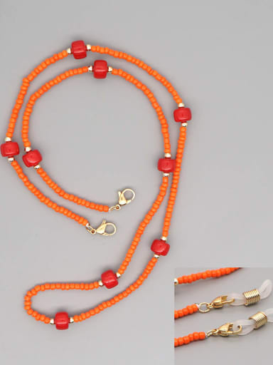 GZ N200011A Stainless steel Bead Multi Color Weave Bohemia Hand-woven Necklace